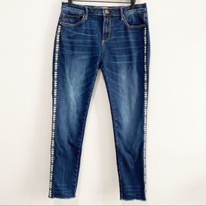 DRIFTWOOD Marilyn Dark Wash Embroidered Jeans